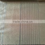 100%Polyester High Quality 11 Stripe Jacquard Base Irregular Abstract Embossed Blackout for factory Curtain Fabric