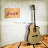 "China musical instrument 41"" Inlay rattan acoustic electric guitar"