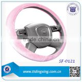 Confortable Feel Warm velvet material Steering Wheel Covers for bus winter rubber for automobiles