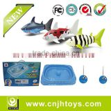 2015 Summer Toys- Funny Rc Mini Boat Swimming Shark 2pcs in 1 Set Animal Aquarium Toys with Playing Pool