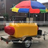 hot dog cinnamon toast food trailer / top sell meats kiosk & van, truck/ factory sell juicer mobile van