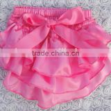 2016 Adorable Baby Satin Baby Bloomers, Baby Sweet Color Bloomer, New Style Baby Bloomers With Bow Design