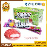 Halal Custom Center Filled Sour Powder Jelly Gummy Candy