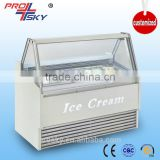 Gelato Hard Ice Cream Display Case (Customized Logo Design)