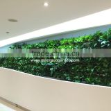 2016 High quality vertical garden green wall module artificial hanging wall for plants synthetic grass moss turf indoor decor