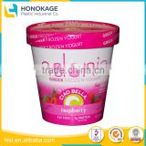 Wholesale Customer Logo Frozen Food Packing Box with Lid, Transparent Plastic Cup for Yogurt