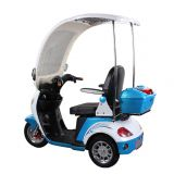 48V500W Adult Electric Motorcycle, 3 Wheels Electric Disabled Scooter Trike with Rain Cover
