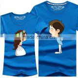 New Cartoon T Shirt Lovers clothes Women's Men's casual short sleeve t-shirts for couples Cotton tees
