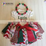 christmas clothes children Kids tutu skirts for Cotton multi colored tear skirts with Short sleeve cotton kids tshirt suit