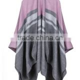 wholesale China factory price female scarf sewing brim grid design imitated cashmere material women shawl