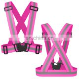 Hot Sale Custom Fluorescent Pink High Reflective Safety Vest For Kids or Women