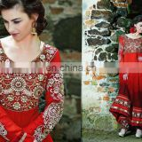 Beautiful Party Wear Long Anarkali Dress Designer Salwar Kameez Anarkali Bridal Heavy Dresses R1352