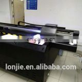 Double head leather uv printer with white and color ink