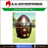 Antique Leather Vintage Rugby Ball with Custom Printed Logo