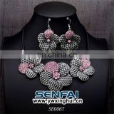 Fashion Bridal Jewelry Set Pearl Fresh Flower Shape Necklace