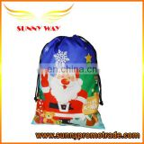 Promotional Custom Christmas Drawstring Bag