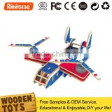 Wholesale DIY Educational Wooden Solar Toys Remote Control Helicopter