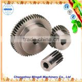 changzhou machinery Differential Spur gear Parts/ Steel Small Pinion tactical gear reduction gear for paper shredder