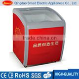 Small glass lid curved top glass door chest deep freezer small ice cream freezer                                                                         Quality Choice