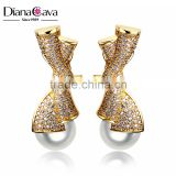 High Quality Shell Pearl Luxury Bridal Jewelry Earing Fashion Gold Ladies Earrings Design