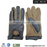 Lady's Pu/Fabric Glove With Metal Botton For AW 16 LMJC-019