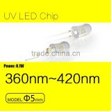 UV light 365nm LED fluorescent detection safe check rechargeable torch LED chip