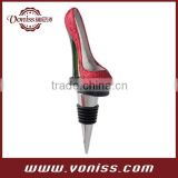 High Heel Sparkly Shoe Wine Bottle Stopper,Wine Champagne Saver Vacuum Wine Pump Sealing Preserver