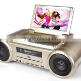 All In One Portable Karaoke Player with 9 inch screen TV FM DVD player Game LD-1011D
