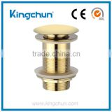 KingChun Free Samples basin drain pop up stopper for bathroom sink with overflow(K8312-G)