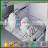 SUREALONG iron wire dish rack metal dish drying rack dish drainer cabinet table dish rack