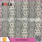 BOKA Fashion Offwhite width 150cm lace fabric polyester/nylon embroidery fabric,wholesale garment fabric china supplier