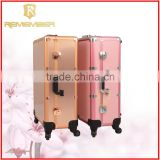Rolling Cosmetic Makeup Case 4 In 1 Make Up Artist Case Aluminum Construction Case ladies leather vanity bag