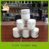 made in china 13oz hand painted ceramic barrel coffee mugs with handle,OEM is welcome