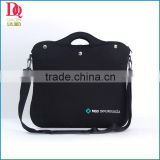 2014 HOT! Pure Black Color Neoprene Laptop Bag with Simple Logo,Wholesale Price And Fashionable
