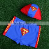 hot selling baby boy swiming trunks and cap cartoon swiming trunks wholesale baby boy swiming trunk and cap