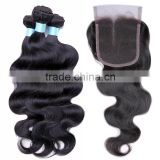 Brazilian Virgin Hair Deep Wave Brazilian Loose Wave Hair 5a Peruvian Hair Body Wave With Closure