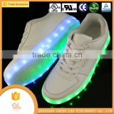 Chinese brands shoes hot collections comfortable fashionable led light running shoes