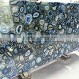 blue rough brazilian agate composite stone slab