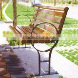 high quality non-fade and low maintenance wood plastic composite garden bench