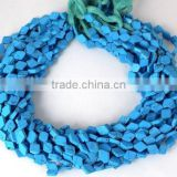 Beautiful 5 Strands Synthetic Blue Turquoise 7x9mm Diamond Shape Loose Beads,Jewelry Making Beads