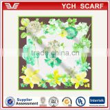 promotion price printed satin scarf for airline stewardess