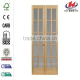 JHK- G22 Canopy Plastic Wood Double Glazed Interior Bifold Door