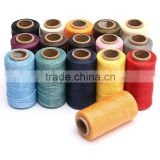 Excellent Quality 1 Spool 260m 1mm Flat Sewing Coarse Braid Waxed Thread For Leather Craft Repair