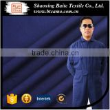 TC flame retardant polyester dark blue men's rough hi vis coverall workwear uniform china