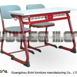 Wholesale student study desk and chair/School study table and chair/Student desk and chair/Double classroom furniture