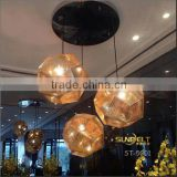 ST-5001 Sunbelt Engraved stainless steel light pendant,chrome pendant light,stairs pendant light.