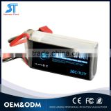 1500mah 11.1v electric car battery RC helicopter battery toy battery
