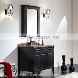 K-909 modern single solid wood bathroom vanity with mirror cabinet                                                                         Quality Choice