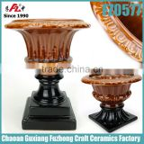 Nice look glazed urn planter ,urn flower pot for home decoration