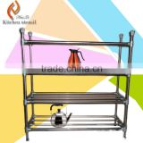 4 layers or 3 layer stainless steel kitchen wire storage rack for vegetable food dish plate